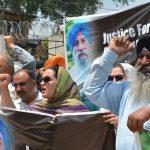 Protest against killing of sikh community member