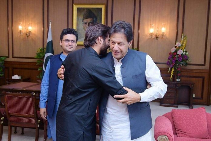 Shahid Afridi meets Imran Khan