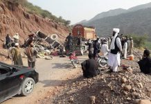 DERA ISMAIL KHAN: At least six people lost their lives and 23 others have been injured in road accidents in Dera Ismail Khan and Torghar districts of Khyber Pakhtunkhwa. In DI Khan, a tractor carrying a gypsy family and its luggage overturned in Sarobi area of Drazinda tehsil on Wednesday. Three people of a family, including two women, lost their lives in the accident, while 11 others were injured. The administration said the injured persons were shifted to hospital. The local people helped in the rescue activity. Earlier, three people, including two women, were killed and another 12 were injured when a passenger jeep plunged into a ravine in Torghar on Tuesday. The jeep was travelling to Bakot village from Judbah when the driver lost control over it while negotiating a sharp turn. The vehicle skidded off the road and plunged into the ravine. District Police Officer (DPO) Janis Khan confirmed the incident and said the injured people were shifted to hospital. Policemen arrived at the scene and shifted the injured to the Civil Hospital in Judbah from where almost all the injured were referred to the Ayub Medical Complex hospital in Abbottabad. Road accidents mainly happen in KP due to poor condition of roads and untrained drivers. Last week, six persons of a family lost their lives in a traffic accident in DI Khan. Dr Naseem, who was appointed at District Headquarters Hospital, was travelling in a car along with his mother, two sisters, wife and two children from Miakani area to DI Khan city on Monday night when his vehicle collided with a bus in Pasha Khani area. Police said Dr Naseem, his two sisters, mother and two children died on the spot, while his wife was critically injured. Two brothers were killed in a firing incident over a domestic dispute in North Waziristan tribal district on Wednesday. Local sources said the incident happened in Narikot area of Miranshah tehsil where a man shot dead his son-in-law and his brother. The sources said the daughter of Aleem Ramail was left her husband's house and was in her father's house, while her husband had entered engagement with another girl and was planning to enter second marriage soon. Sources said Aleem was perturbed over the issue and on Wednesday morning he allegedly shot dead his son-in-law and his brother. Police have arrested the accused.